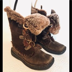 Born suede shearling boots